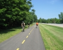 cyclists on the Thousand Islands path
