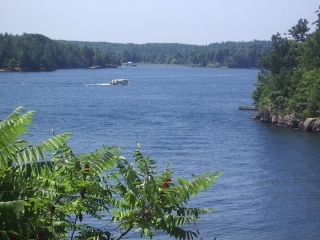 views from Thousand Islands path.