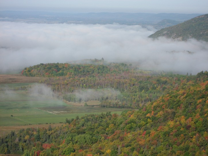 Fog as seen from Champlain Lookou