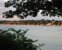 sailboats moored in the Niagara Rive