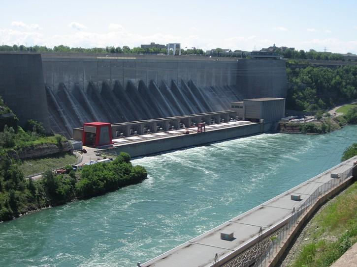 hydro Dam on the Niagara River.