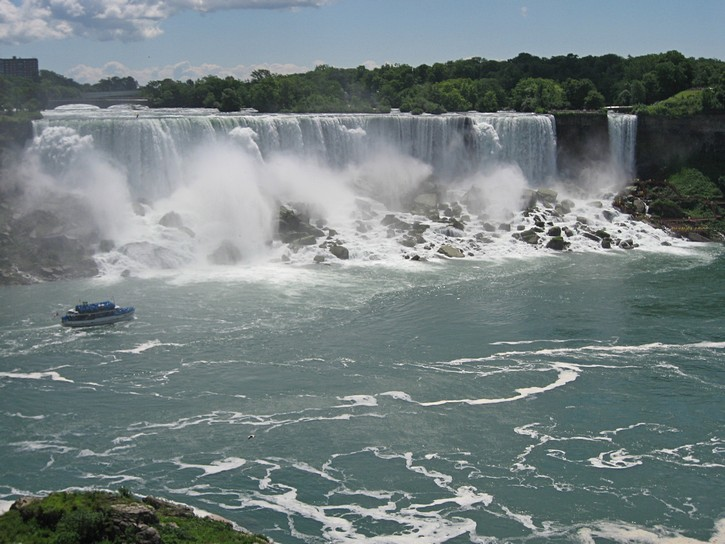 The falls on the American side.
