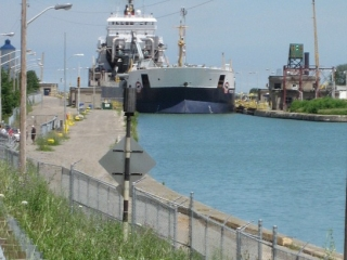 ship exiting Lock 7