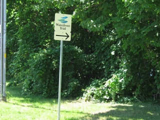 sign for The Waterfront Trail