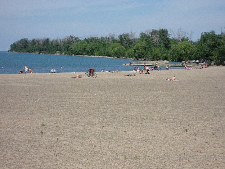 beach next to  Waterfront Trail