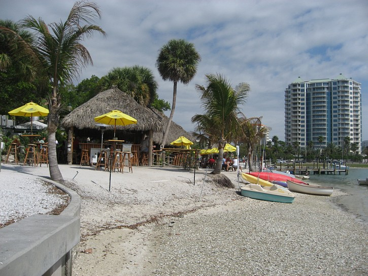 tiki bar on Sarasota's waterfront
