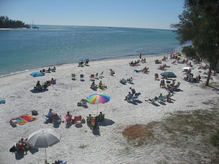 beach at southern tip of Anna Maria Island