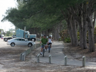 cyclists on Anna Maria Island