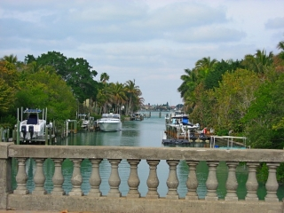 view from Siesta Drive bridge