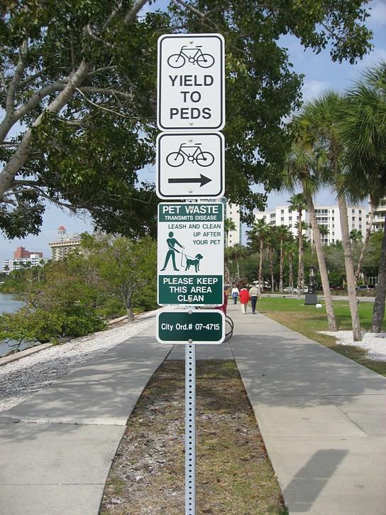 multi-use recreational pathway in Sarasota