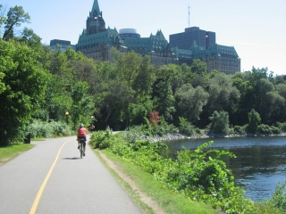 pathway behind the Parliament Buildings.