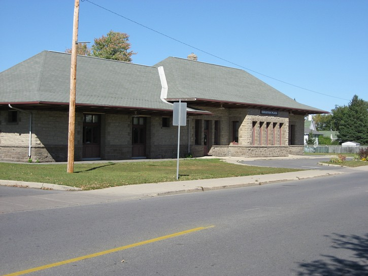 old railroad station in Carlaton Place