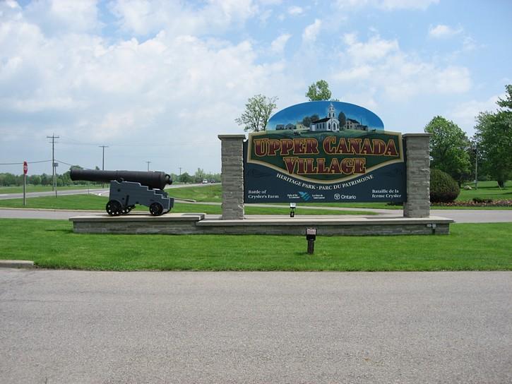 Upper Canada Village entrance
