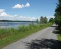 crushed stone pathway next Ottawa River