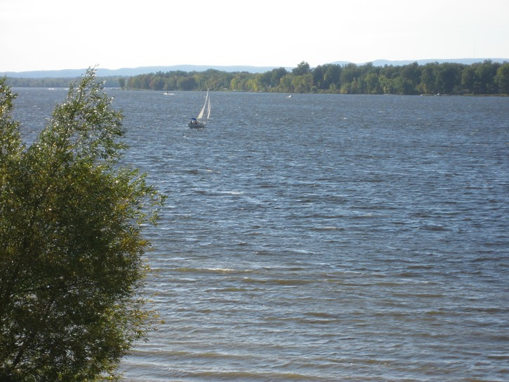 sailboat on Ottawa River
