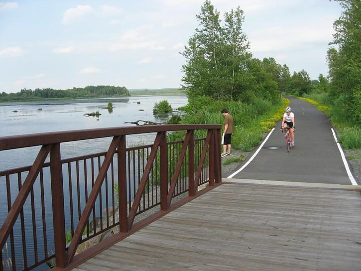 small bridge on bike trail