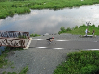 cyclists on bike path