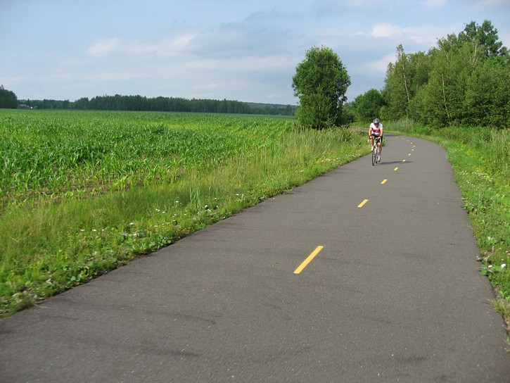 bike trail near framland