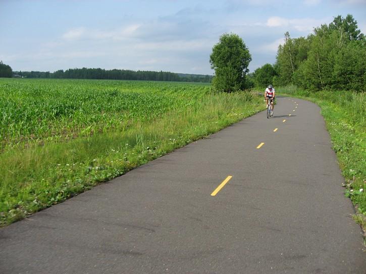 bike trail near framland