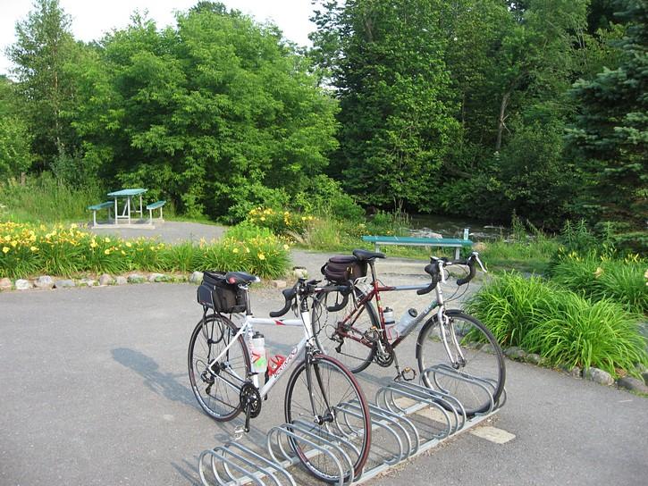 rest areas on the Estriade trail.