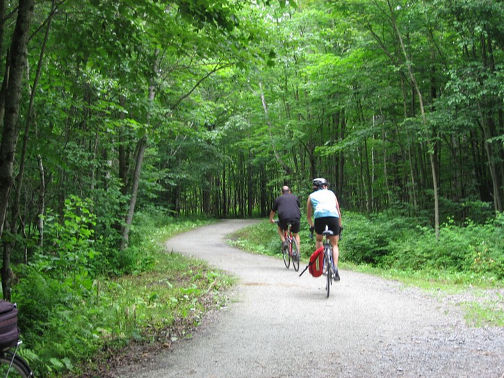 bike trail in the Parc national de la Yamaska.