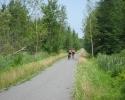 Cyclists on the Estriade Trail