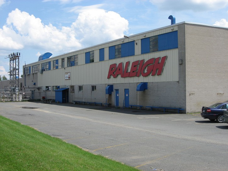 old Raleigh bicycle factory in Waterloo