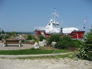 An old Coast Guard Boat on display