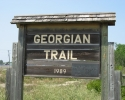 Georgian Trail sign