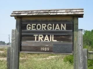 Georgian Trail sign