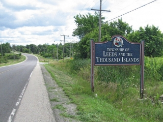 sign for Leeds and Thousand Islands Township