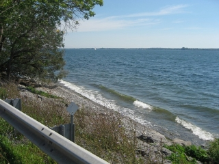 view of Lake Ontario from Highway 33