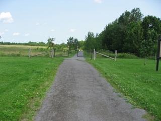 path into the Lemoine Point Conservation Area