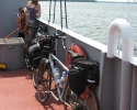 touring bicycles on a ferry