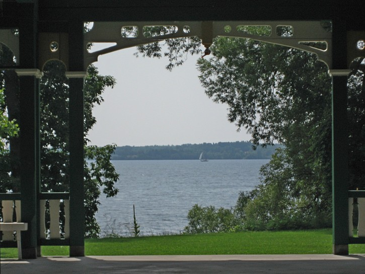 view of Lake Onatrio from Highway 33