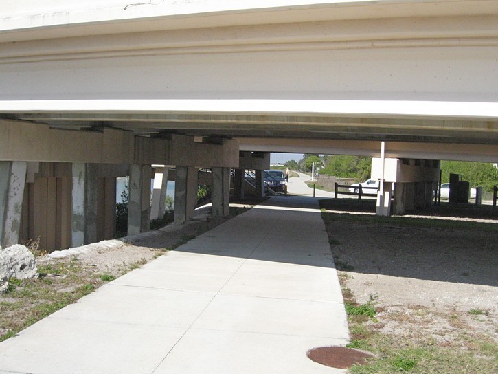 Venetian Waterway Trail passes under the Tamiami Trail Highway