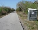 outhouse toilets on Legacy Trai