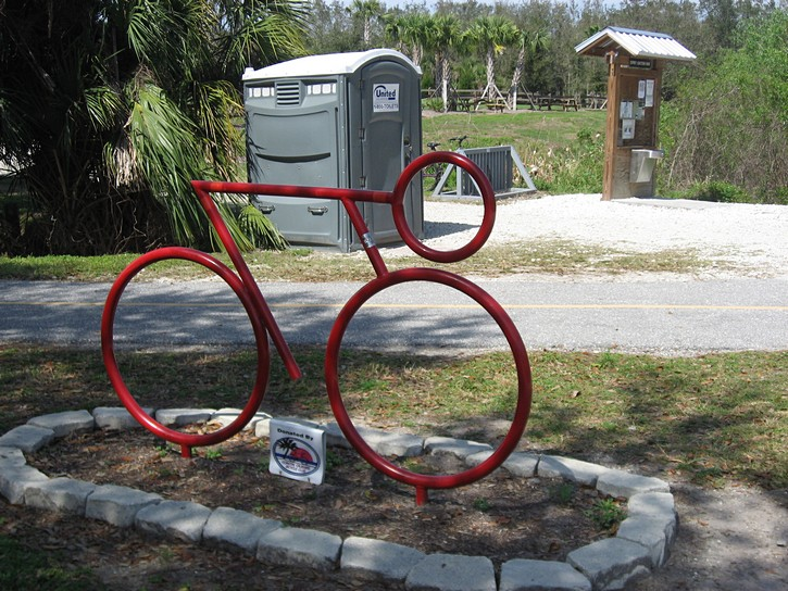 bicycle art on the Legacy Trail
