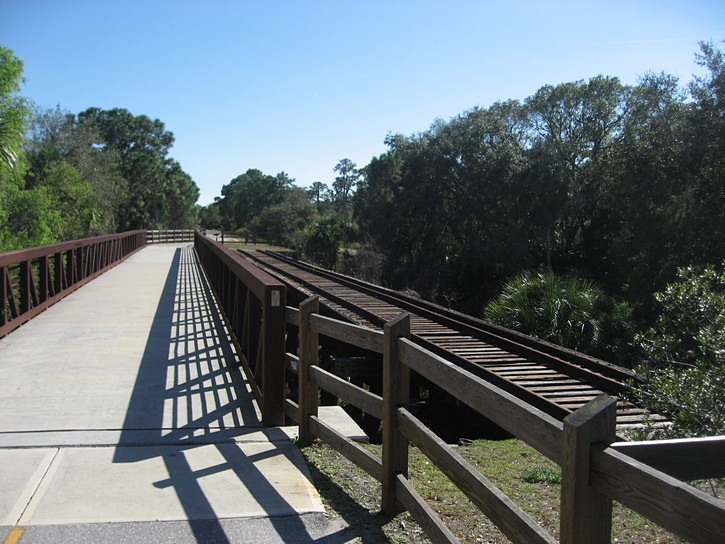 part of the old railroad on Legacy Trail