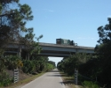highway overpass above Legacy Trail