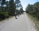 group of cyclists on the Legacy Trail.