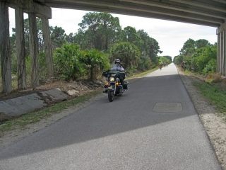 police on motorcycle on the Legacy Trail