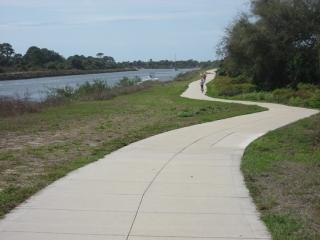 Venetian Waterway Trail next to the ICW