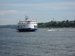 The ferry heading to Quebec City from Levis.