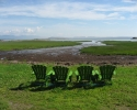 chairs next to St. Lawrence River.