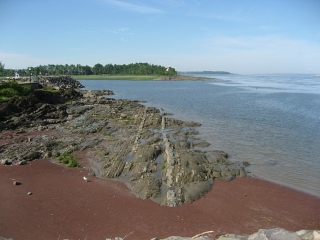 rock outcrop on St. Lawrence River