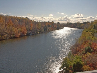 a view from the Hunt Club Road Bridge