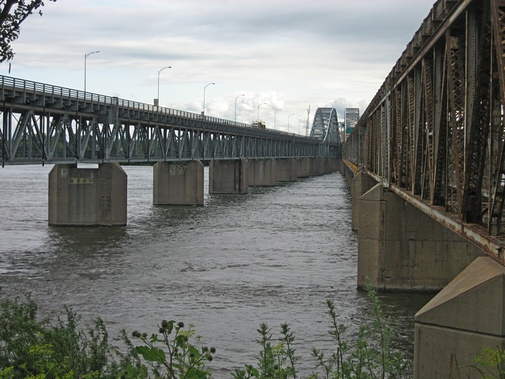 The Mercier Bridge in Montreal