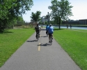 bike path on Lachine Canal