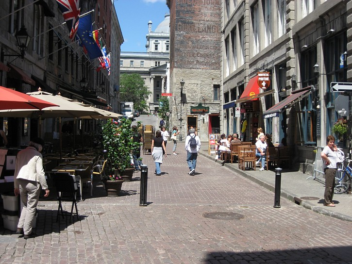 Old Montreal in the morning.